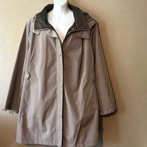 Gallery New York All Weather coat w/hood size 3X